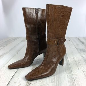 Gianni Bini faux reptile leather boots size 9.5